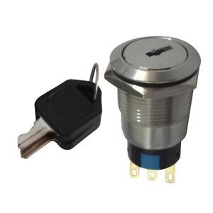 22mm 2-Position ON//OFF Lock Switch Electronic Key Switch with 2 Keys