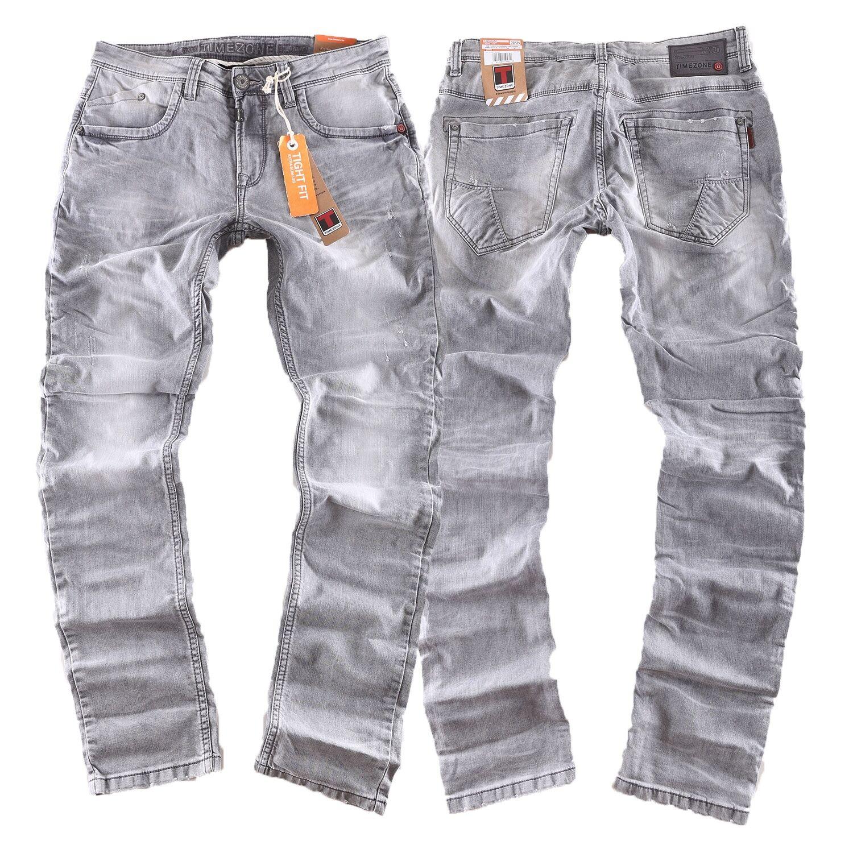 TIMEZONE Jeans Uomo Pantaloni Costello 2085 Ligth grigio nuovo dimensioni selezionabile