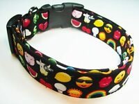 Charming Emojis Emoticons Standard Adjustable Dog Collar
