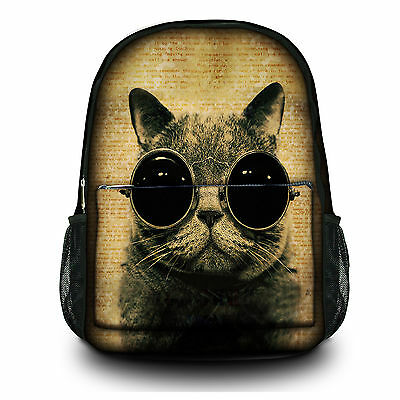 Cat Sunglass Bookbag Laptop Bag Backpack Rucksack Bags Schoolbag UP to 15.6""