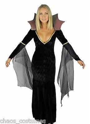 Medusa Morticia Adams Gothic Witch Vampire Dark Angel Underworld Bride Costume