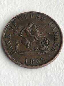 1852 Canada Half Penny Bank of Upper Canada