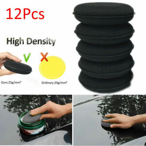 12PCS-Black-Foam-Sponge-Polish-Wax-Applicator-Car-Detailing-Cleaning-Pad