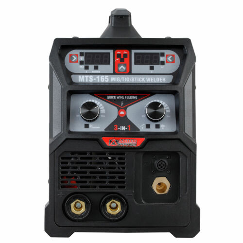 110//230V MIG-Weld Aluminum MTS-165 Amp MIG//TIG//Stick Arc 3-in-1 Combo Welder
