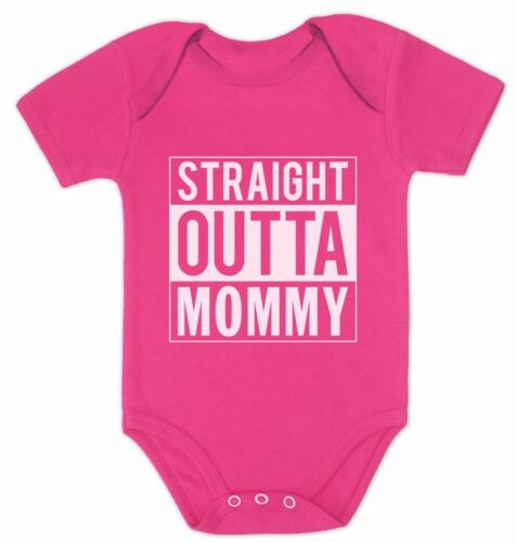 Straight Outta Mommy Funny Cute Bodysuit Unisex Baby Bodysuit Grow Vest