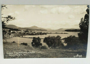 Postcard RPPC Lake Memphremagog Newport, VT Richardson 1944 Real Photo
