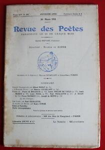 1911-Revue-des-Poetes-N-154-Ch-Grandmougin-P-de-Feuillette-J-Galzy