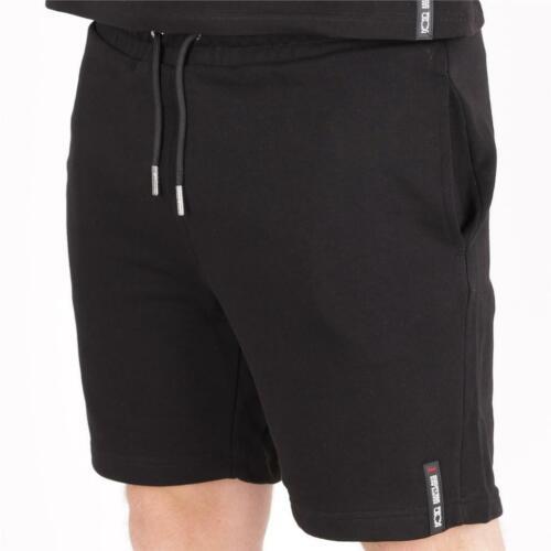 Mens Societe Noir Loopback Shorts Black RRP £49.99 SNA1