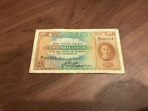 Government Of Malta Banknote Two Shillings King George VI?