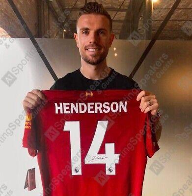JORDAN HENDERSON LIVERPOOL FC PLAYER OF THE SEASON SIGNED SHIRT With COA £250 | eBay