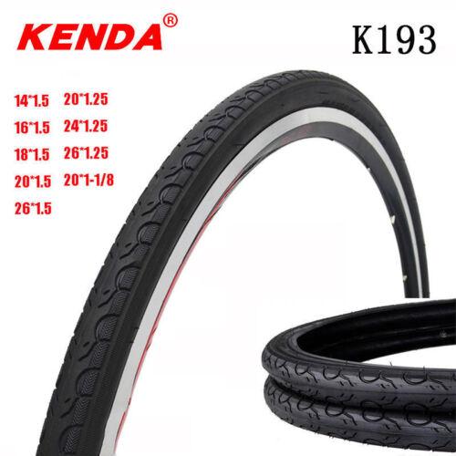 "Kenda 65PSI 14//16//18//20//24//26*1.25//1.5/"" Clincher Tires MTB BMX Folding Bike Tyre"