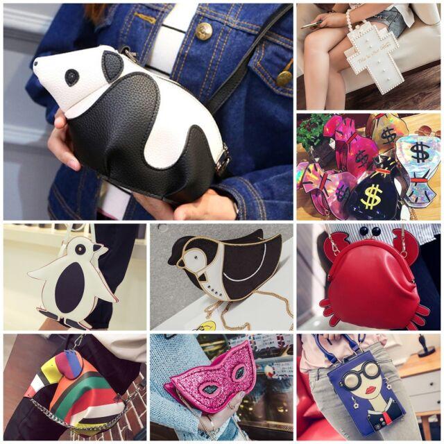Women Cute Animal Panda Satchel Shoulder Cross Body Bag Handbag Fashion Icon Bag