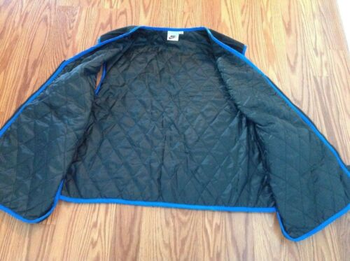 Vest Vintage Quilted Top Women's Nike Hip Blue L Hop 90's Boxy Fleece Era Black qxwzZ4