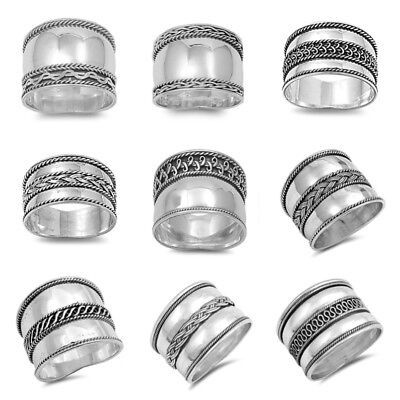 NEW !925 Sterling Silver DESIGN PLAIN RINGS SIZE 5-13