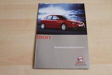 79101) Seat Leon - technische Daten & Ausstattungen - Prospekt 06/2001
