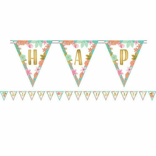 1st BIRTHDAY Boho Girl PENNANT BANNER KIT ~ Party Supplies Hanging Decoration
