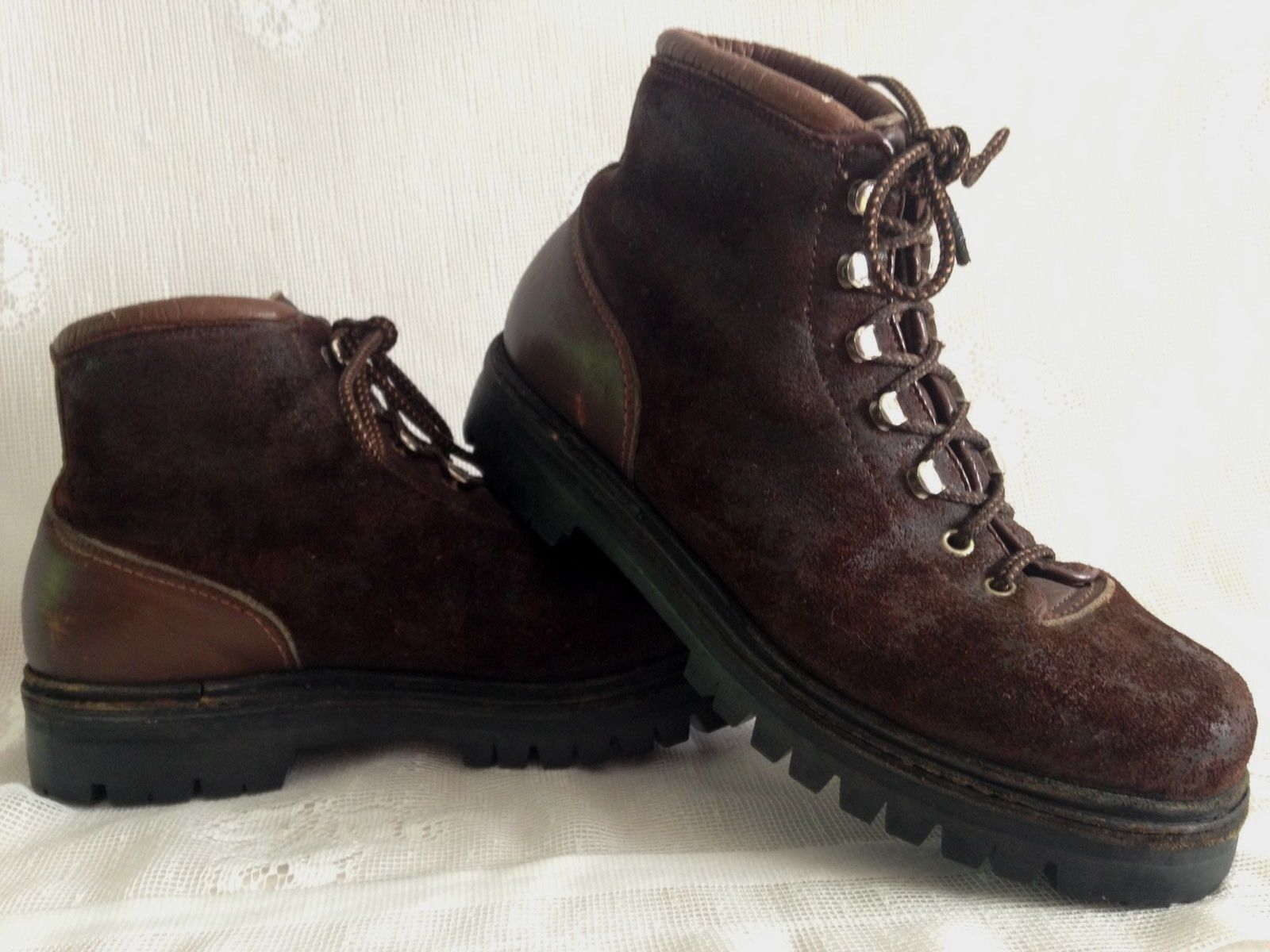 Vintage Calzaturificio The Alps By Fabiano Brown Suede Hiking Boots Women's 8.5N