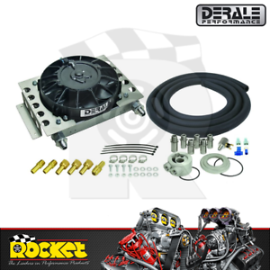 Derale Atomic-Cool Remote Mount Engine Oil Cooler Kit w/ Fan - DP15450