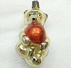 Antiker-Russen-Christbaumschmuck-Glas-Weihnachtsschmuck-Ornament-Bear-Cub