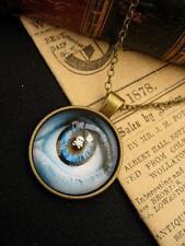 Eye Necklace Skull & Crossbones Magic Pendant  Gothic Stempunk Bronze Gift Bag