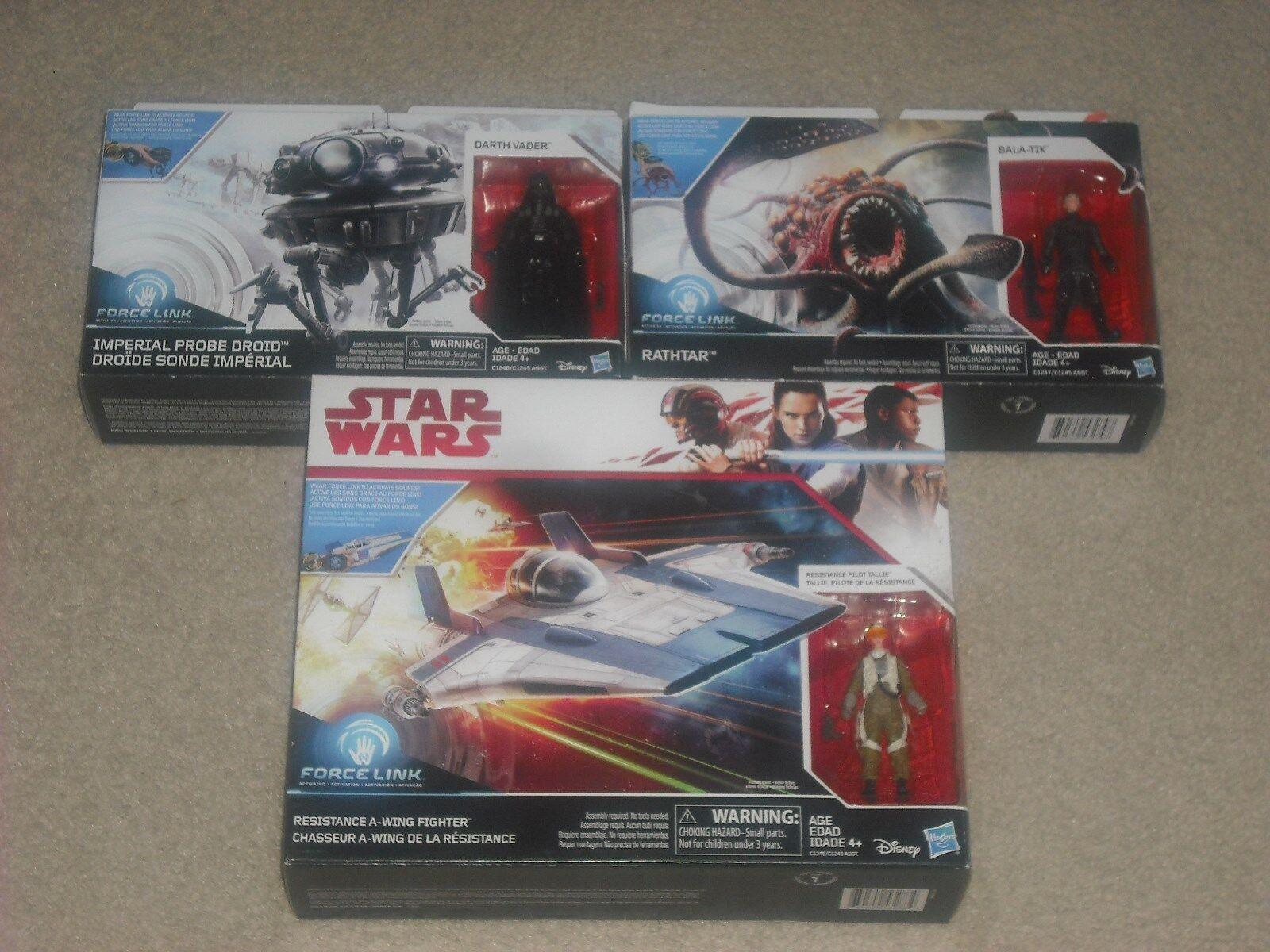 Star wars tlj rathtar + imperialer suchdroide + a - flügel kämpfer mib viel widerstand
