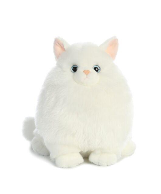 08145fe41919 10 Inch Fat Cats Mashmallow Persian Cat Plush Stuffed Animal by Aurora