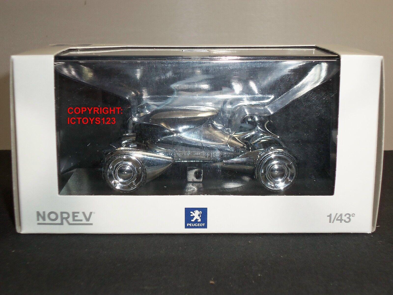 NOREV 472710 PEUGEOT MOONSTER CHROME DIECAST MODEL CAR