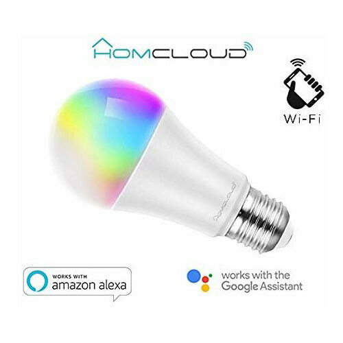 Homcloud LED Leuchtmittel Smart Wi-Fi RGB + Cct E27 Dimmbar Wifi 1050 Lumen 11W
