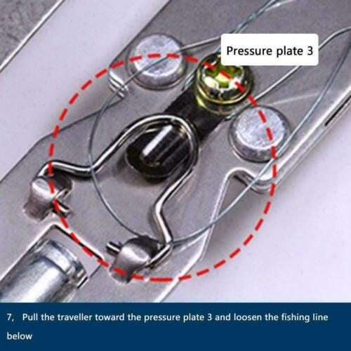 Stainless Steel Semi-Automatic Fishing Hook Line Tier Tie Device Fish Tool S9W7