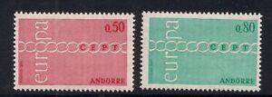 Andorra-Fr-1971-Sc-205-06-Europa-MNH-Scv-20-3-6205