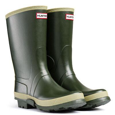 Mens Ladies Olive Green Hunter Short  Gardener Wellington Wellies Sizes 3 - 12