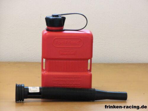 FuelFriend Plus 1,0L  Kanister zapfpistolengeeignet mit Auslaufrohr schwarz
