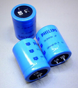 2 Pièces Elkos Philips 3300 µf/63 V-radial (m0876)-afficher Le Titre D'origine