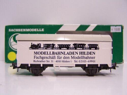 """SACHSENMODELLE 18501 Werbewagen /""""Modellbahnstation Heiligenhaus// Hilden/"""" H0"""