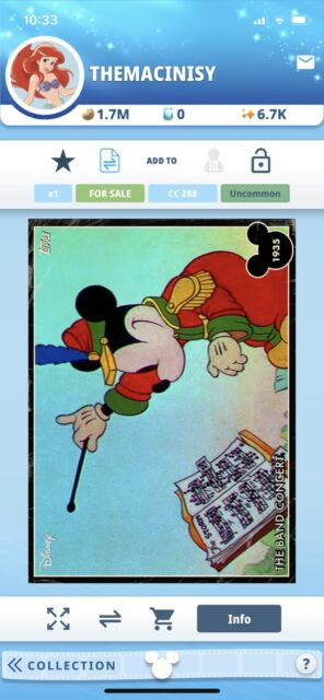 Topps Disney Collect Digital Mickey Mouse Vintage The Band Concert February VIP