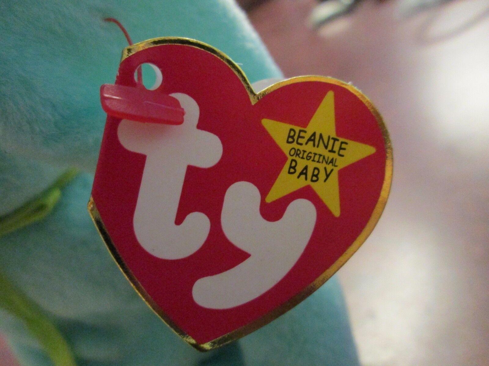 MWMT MWMT MWMT Hippity Bunny TY original beanie baby RETIRED double misprint hang tag 1996 edf916