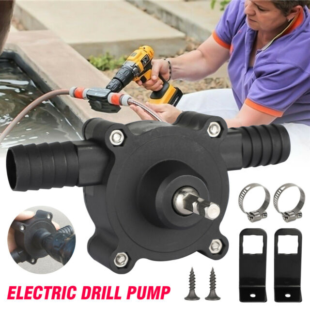 Hand Electric Drill Drive Self Priming Water Transfer Pump Portable Electric Drill Pump Centrifugal Water Pump Self Priming