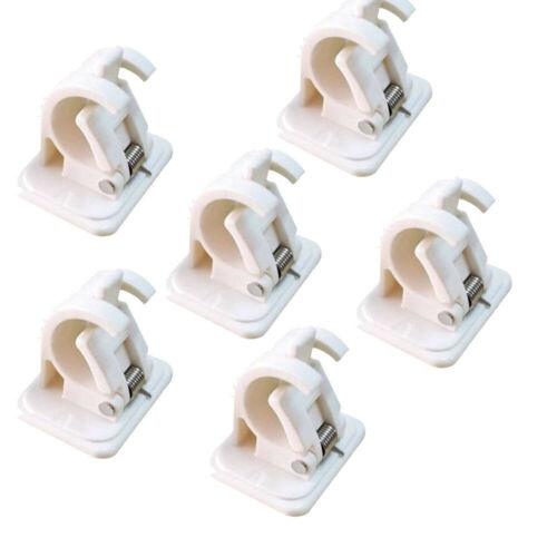 6PCS Self Adhesive Hooks Curtain Rod Bracket Pole Drapery Hook Holders Curtains
