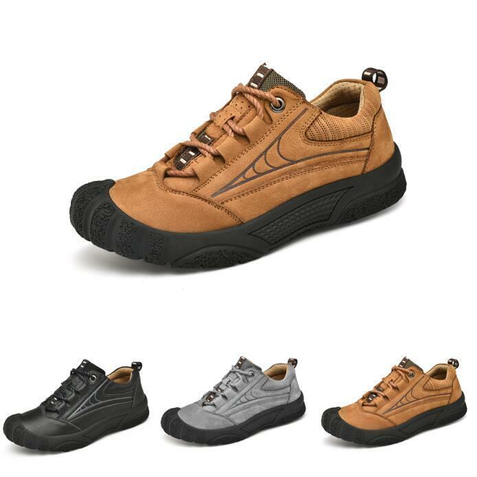 Athletic Trekking Herren Turnschuhe Schnürung Alltag Outdoor Leder Leicht Schuhe