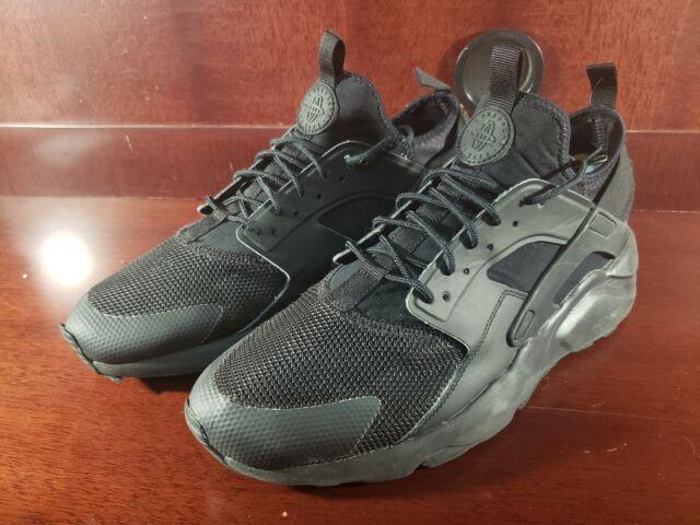 Nike Air Huarache Run Ultra Triple Black Running Shoes 819685-002 Size 11 GC