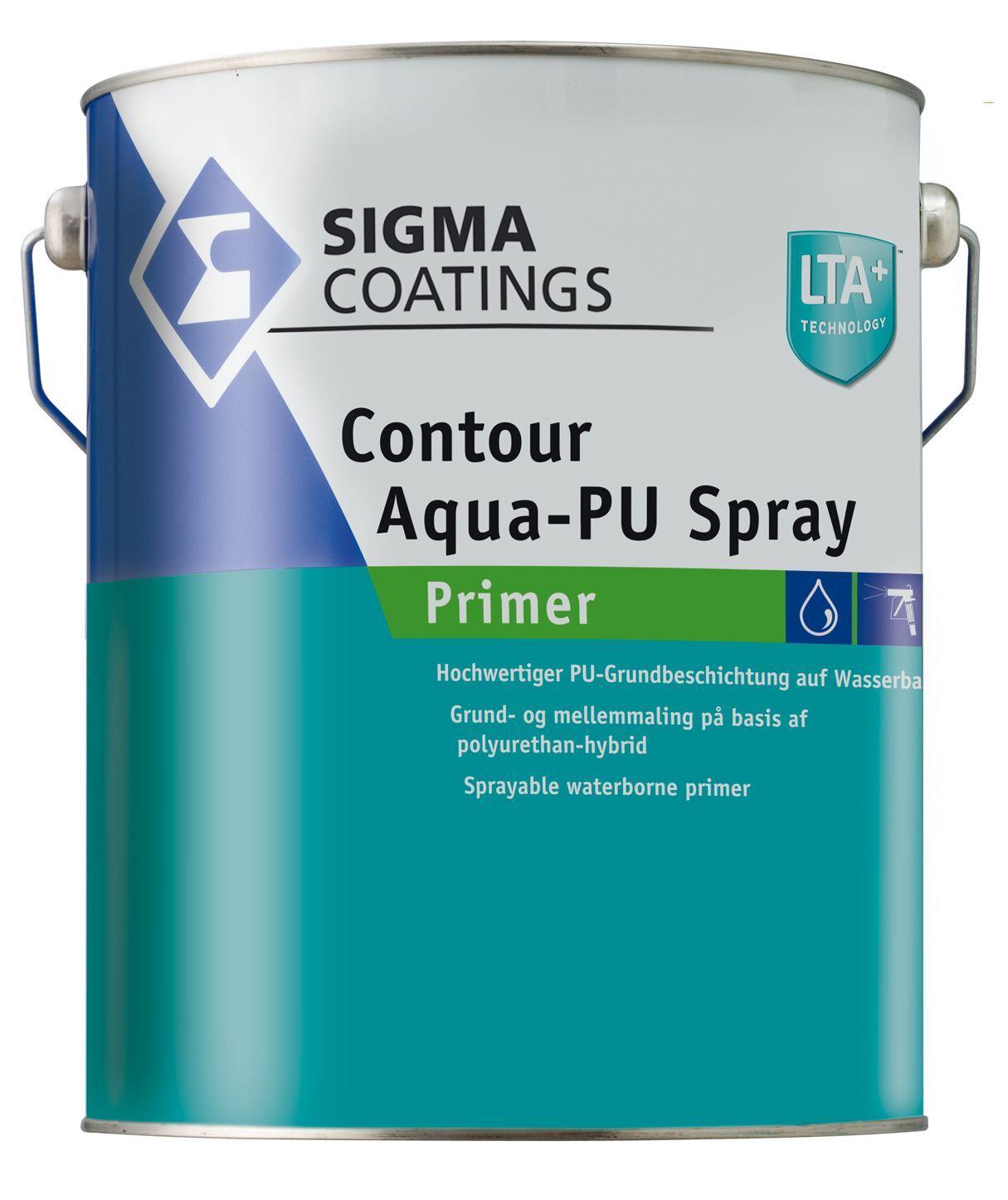 4x SIGMA Contour Aqua-PU Spray Primer 5 Liter- sehr gute Haftung