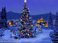 Country Christmas Tree Counted Cross Stitch Pattern