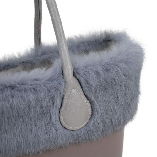 Plush Trim for O BAG Thermal Decoration Rabbit Fur Fit for Classic Mini Obag