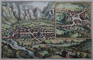 Appenzell-herissaw-appenzell Et Herisau-merian-cuivre Clés De 1641-afficher Le Titre D'origine Omovtbrk-10111829-947232815