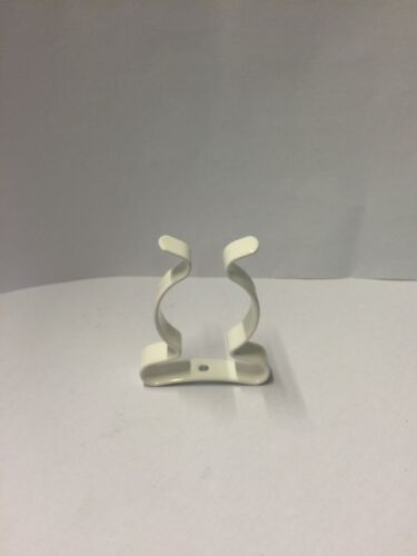 """CoatedClipCoUK 25 or 50 PACK 25MM SPRING TOOL CLIPS WHITE PLASTIC COATED 1/"""""""