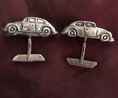 Volkswagen Beetle Car Cufflinks-3D VW Cufflinks-Sterling Silver