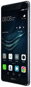 "HUAWEI P9 5.2"" TITANIUM GREY NERO OCTA CORE 32GB RAM 3GB 4G LTE FULL HD BRAND"