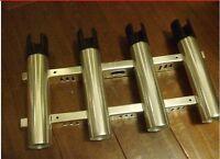 One Set Of 4 (quad) Fishing Rod Holder Polished Aluminum