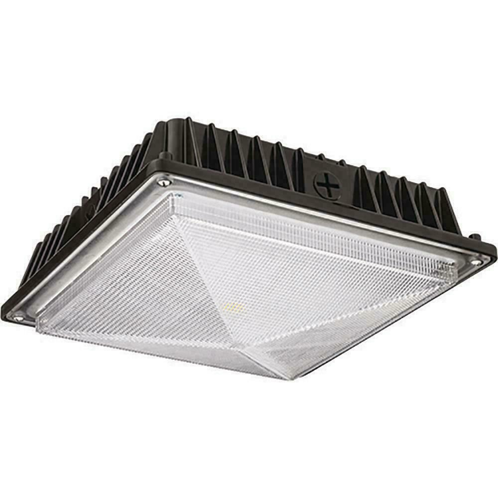 Lithonia Lighting Bronze Outdoor Integrated LED Square Canopy Flushmount Light
