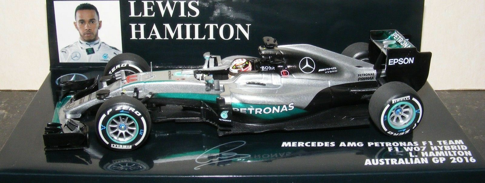 Minichamps Mercedes W07 Lewis Hamilton World Champion Team 2016 1 43 410160044